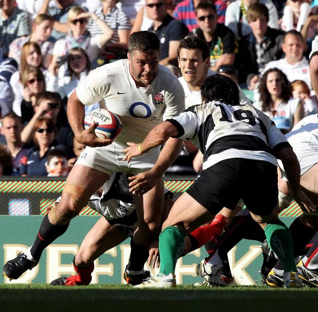 Dying breed: Harlequins number eight Nick Easter and scrum half Danny Care in action for England against the Barbarians    Picture: Getty Images