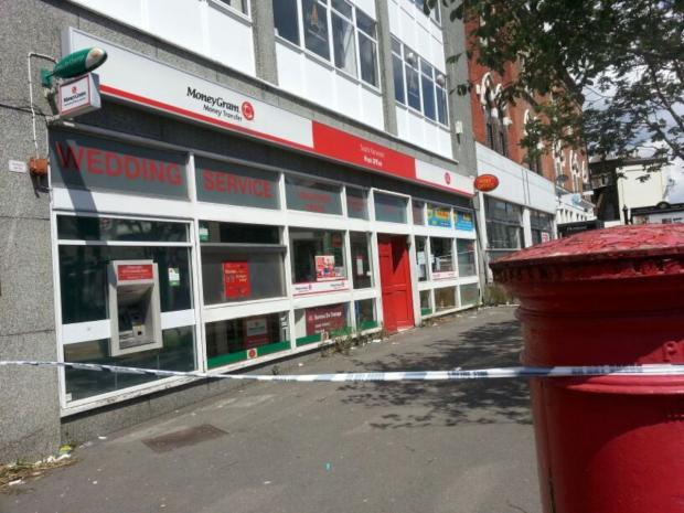 The post office in Selhurst Road was robbed at 8.20am this morning