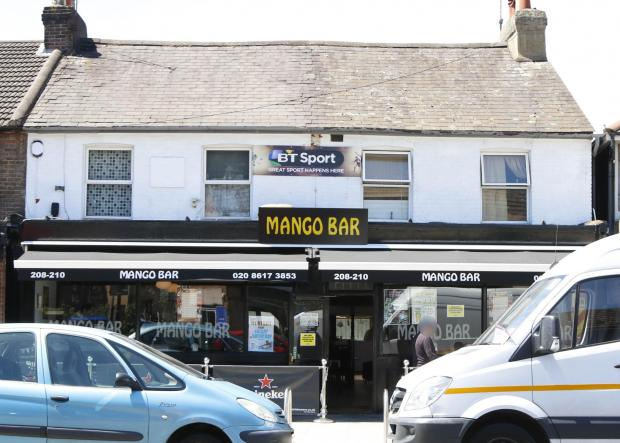 The attacked happened at Mango bar on Sunday