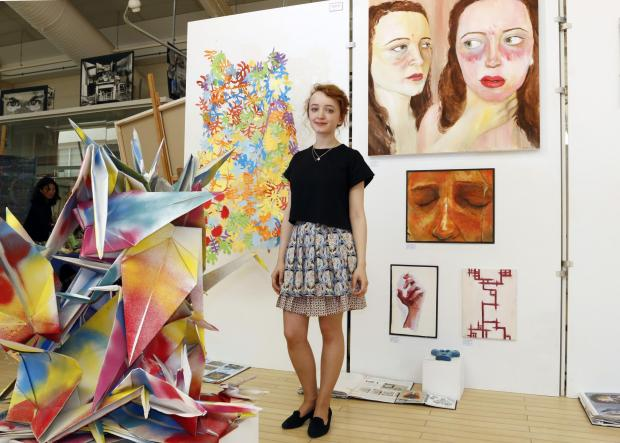 Croydon Guardian: Becky Guthrie, 17, has created sculpture and paintings for the exhibition