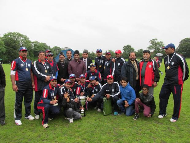 Winners: The England team made up from members of the Armadiyya Muslim community