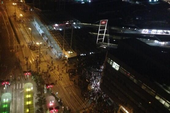 Rave: About 500 people were at the illegal party in East Croydon. Picture: @vickystew