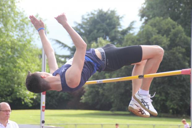 Croydon Guardian: High times: Ocean Schwartz won the intermediate boys high jump at Saturday's Surrey School Championships