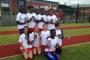Crystal Palace Netball Club U12 team with their trophies