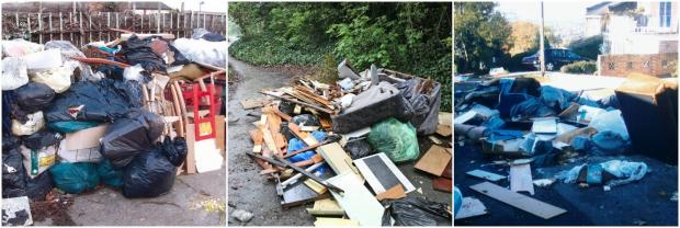 Some of the fly-tipping that has plagued Croydon