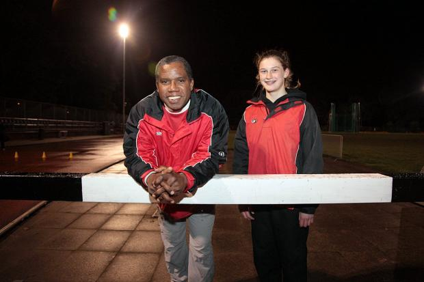 One to watch: Saskia Millard with coach James McDonald                    SP80806