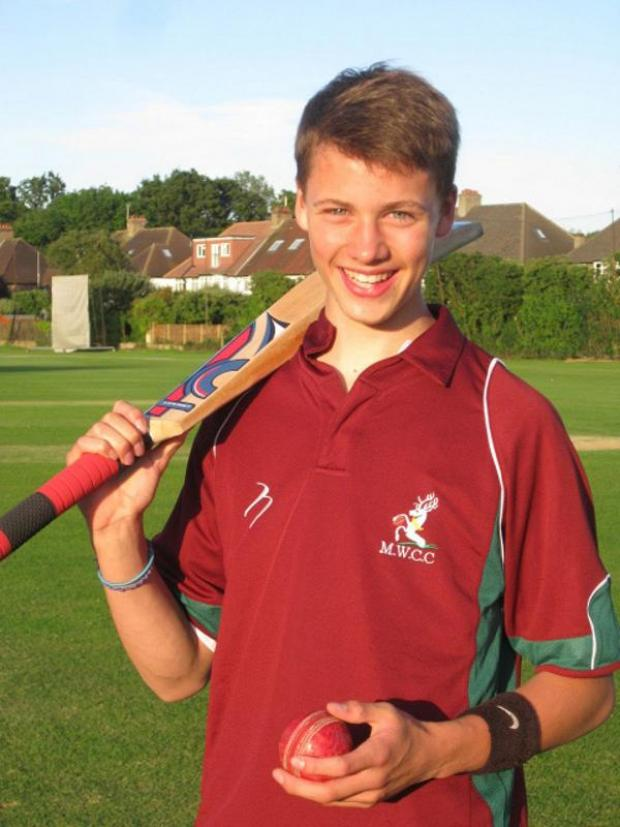 Croydon Guardian: Captain slog: Malden Wanderers teenager Joe Lavender has been putting the hard yards in for a T20 blast