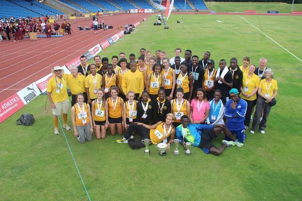 Good weekend's work: The Surrey schools team were triumphant at last weekend's English Schools Championships           Pictures: Mike Fleet