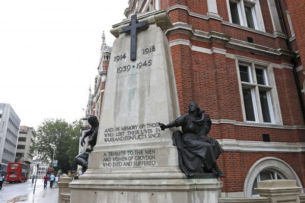 Prominent: Croydon War Memorial