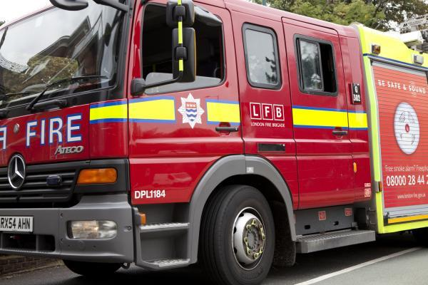 The fire happened at a house in Edith Road, Selhurst