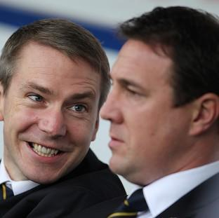 Iain Moody, left, and Malky Mackay are accused of sending offensive messages