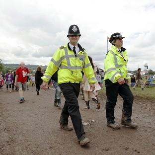 Police arrested two people at Reading Festival