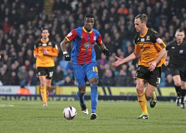 Welcome back: Wilfried Zaha was on target in the most dramatic of fashions at Newcastle United