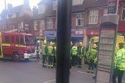 A motorist is in hospital after a crash in Addington Road, Selsdon. Picture by Joe Roff