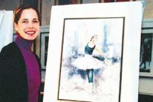 Darcey Bussell with one of the prints