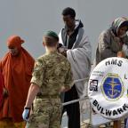 Croydon Guardian: Migrants have been rescued and taken to Italy by HMS Bulwark (Ministry of Defence/PA)