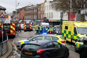 Woman pushing child in buggy hit by truck on zebra crossing in South Norwood