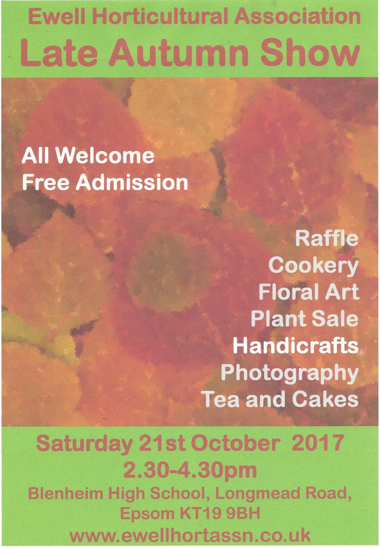Ewell Horticultural Association's Late Autumn Show