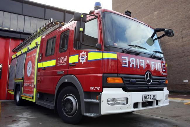 Firefighters were called to the blaze in Waddon Marsh Way