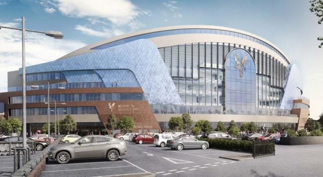 Artists impression of the new Selhurst Park Main Stand