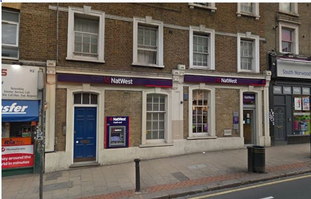 South Norwood Natwest bank to close next month