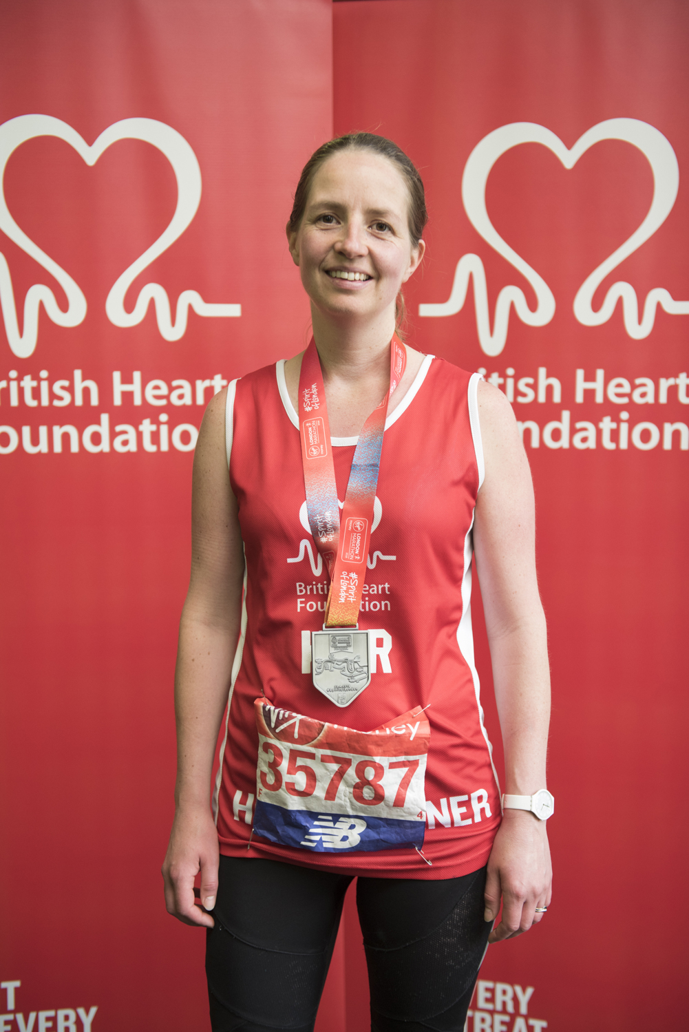 Kirstie Morris runs the London Marathon in memory of best friend Nicola. Picture: DFphotography.co.uk / Danny Fitzpatrick
