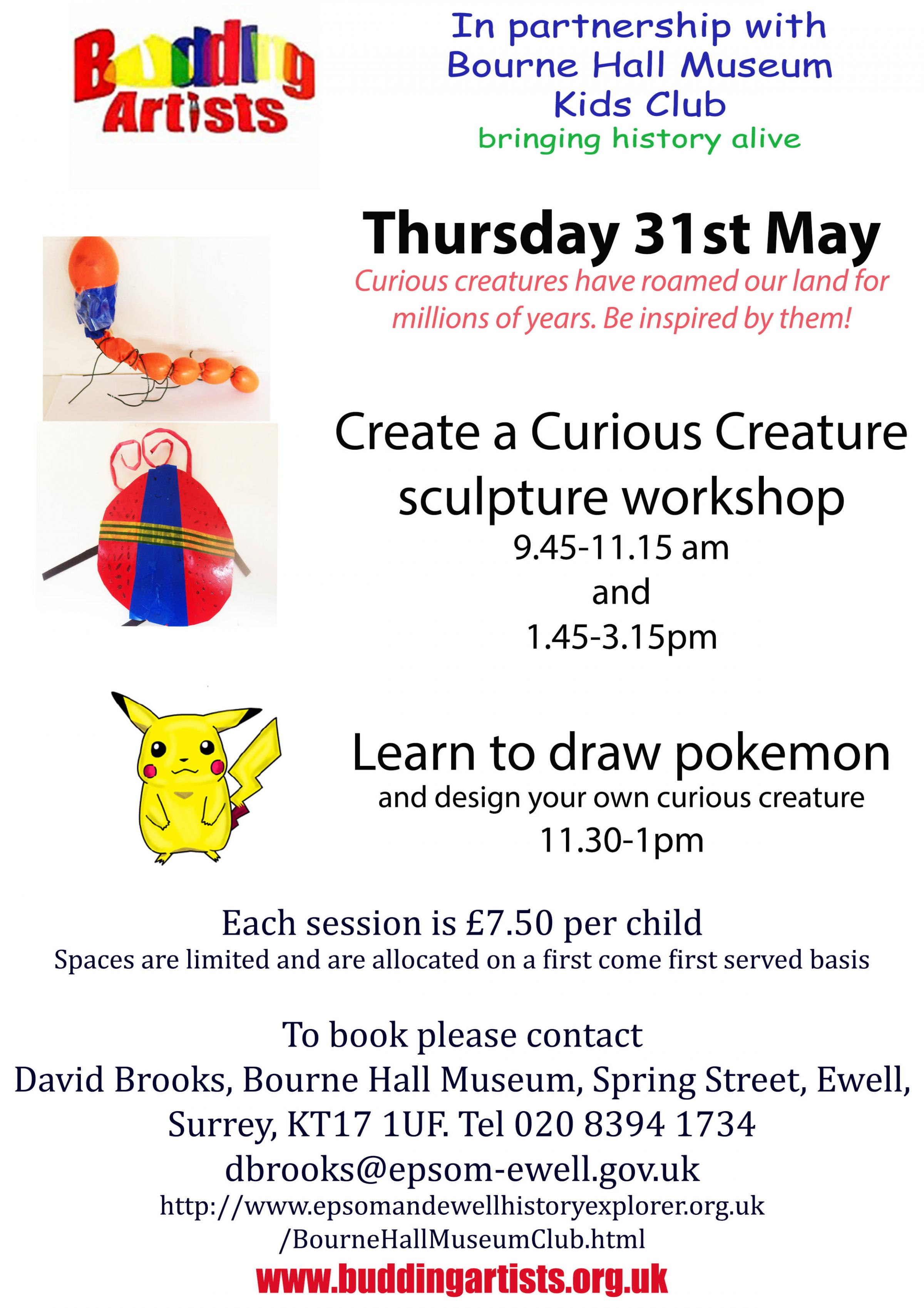 Create a Curious Creature sculpture workshop