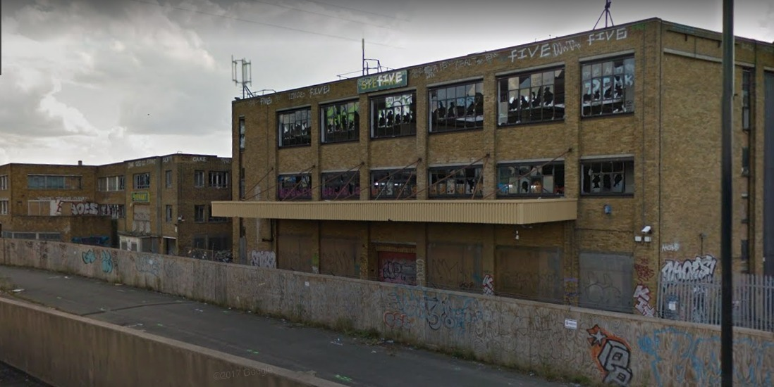 The derelict Stewarts Plastics site in Waddon Marsh Way, Croydon. Credit: Google Maps