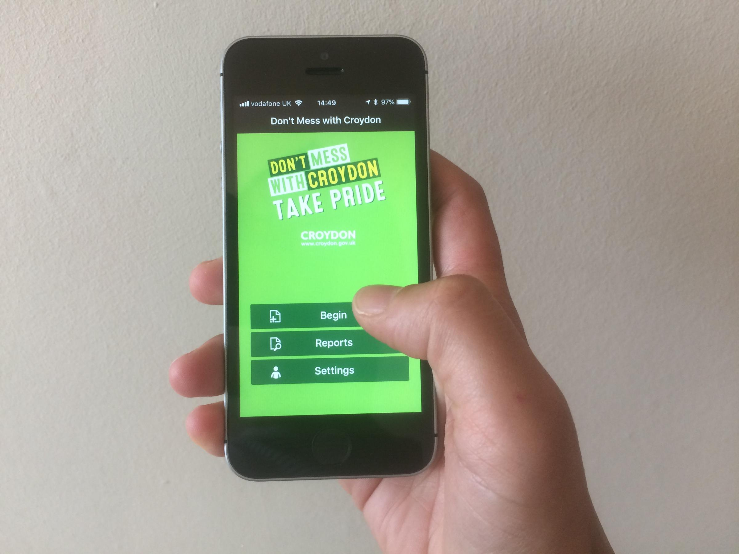 New Don\'t Mess with Croydon app was launched on July 9.