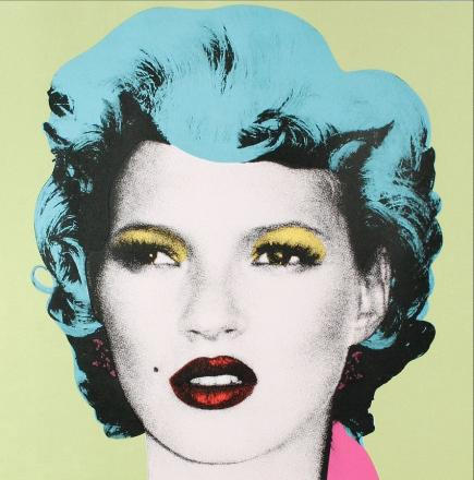 The print is one of six of Kate Moss made by urdan artist Banksy