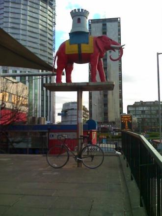 Clive McFarlane was hit close to Elephant and Castle station